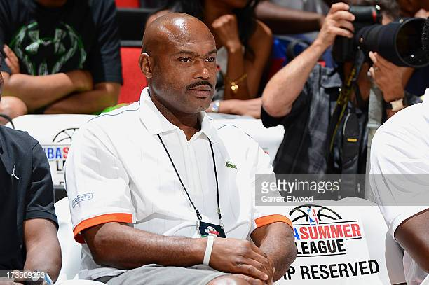 Former NBA player Tim Hardaway attends the NBA Summer League on July 15 2013 at the Cox Pavilion in Las Vegas Nevada NOTE TO USER User expressly...