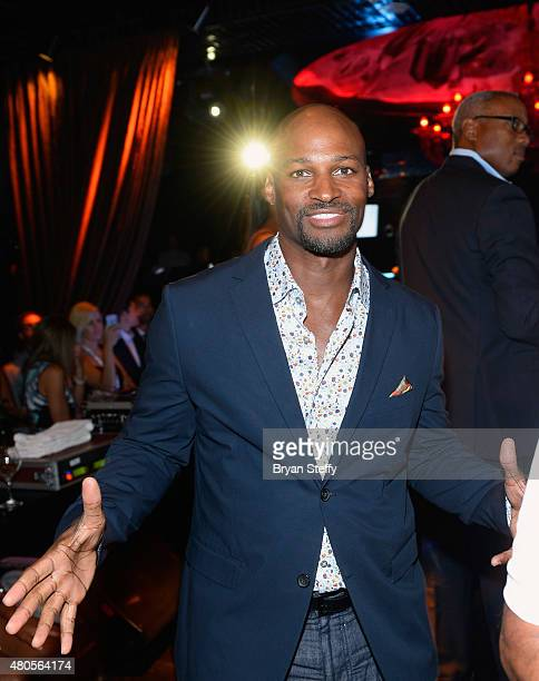 Former NBA player Travis Best attends the second annual Coach Woodson Las Vegas Invitational pairings party at the Lavo Restaurant Nightclub at The...