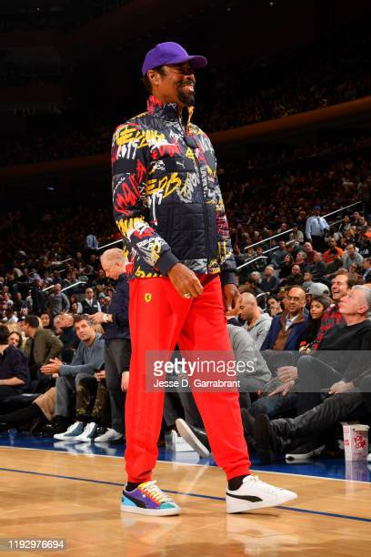 Former NBA Player, Walt Frazier attends the game between the New York Knicks and the New Orleans Pelicans on January 10, 2020 at Madison Square...