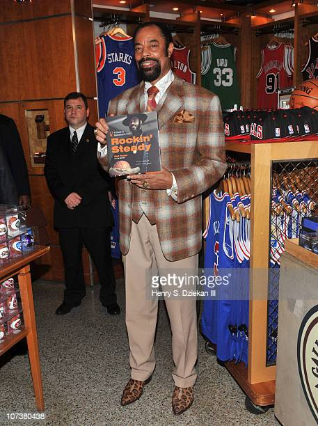 Former NBA Player Walter 'Clyde' Frazier promotes 'Rockin' Steady A Guide to Basketball Cool' at NBA Store on December 7 2010 in New York City