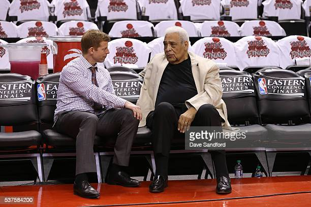 Former NBA player Wayne Embry attends Game Four of the Eastern Conference Finals between the Cleveland Cavaliers and Toronto Raptors on May 23 2016...