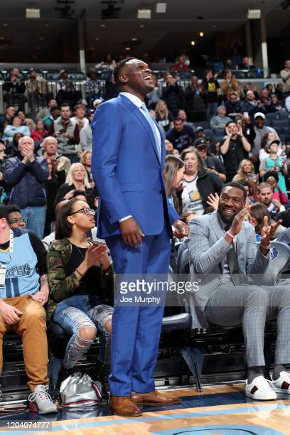 Former NBA player Zach Randolph attends a game between the Memphis Grizzlies and the Sacramento Kings on February 28 2020 at FedExForum in Memphis...