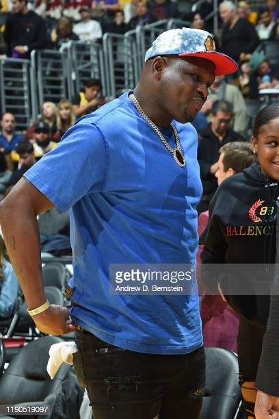 Former NBA Player Zach Randolph attends the Los Angeles Lakers game against the LA Clippers on December 25 2019 at STAPLES Center in Los Angeles...