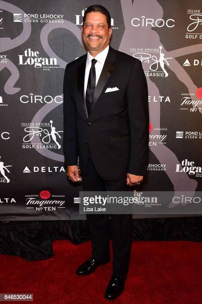 Former NBA Player/Coach Eddie Jordan attends the Erving Golf Classic Black Tie Ball sponsored by Delta Airlines Pond LeHocky Law with cocktails...