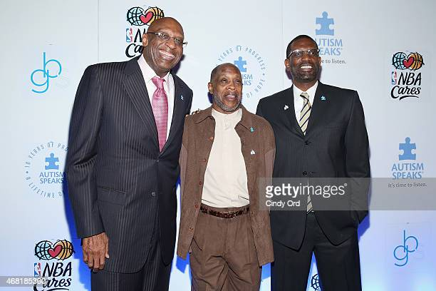 Former NBA players Bob Lanier Tiny Archibald and Albert King attend the Autism Speaks Tipoff For A Cure 2015 on March 30 2015 in New York City