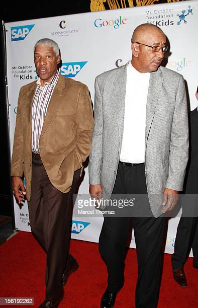 Former NBA players Julius 'Dr J' Erving and George 'The Iceman' Gervin attend the 8th All Star Celebrity Classic benefiting the Mr October Foundation...