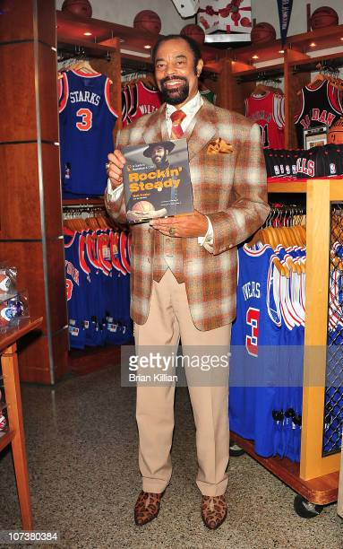 "Former NBA star and current New York Knicks broadcaster Walt ""Clyde"" Frazier promotes Rockin' Steady: A Guide to Basketball & Cool at NBA Store on..."