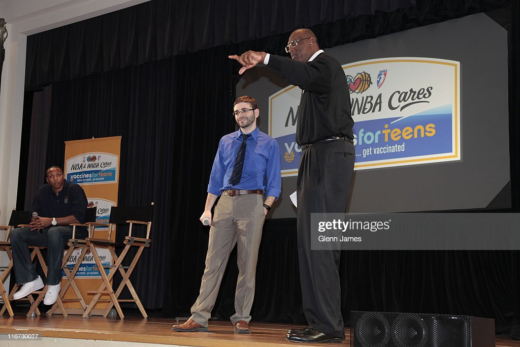 NBA Cares Holds Vaccines For Teens Event In Dallas, Texas : News Photo