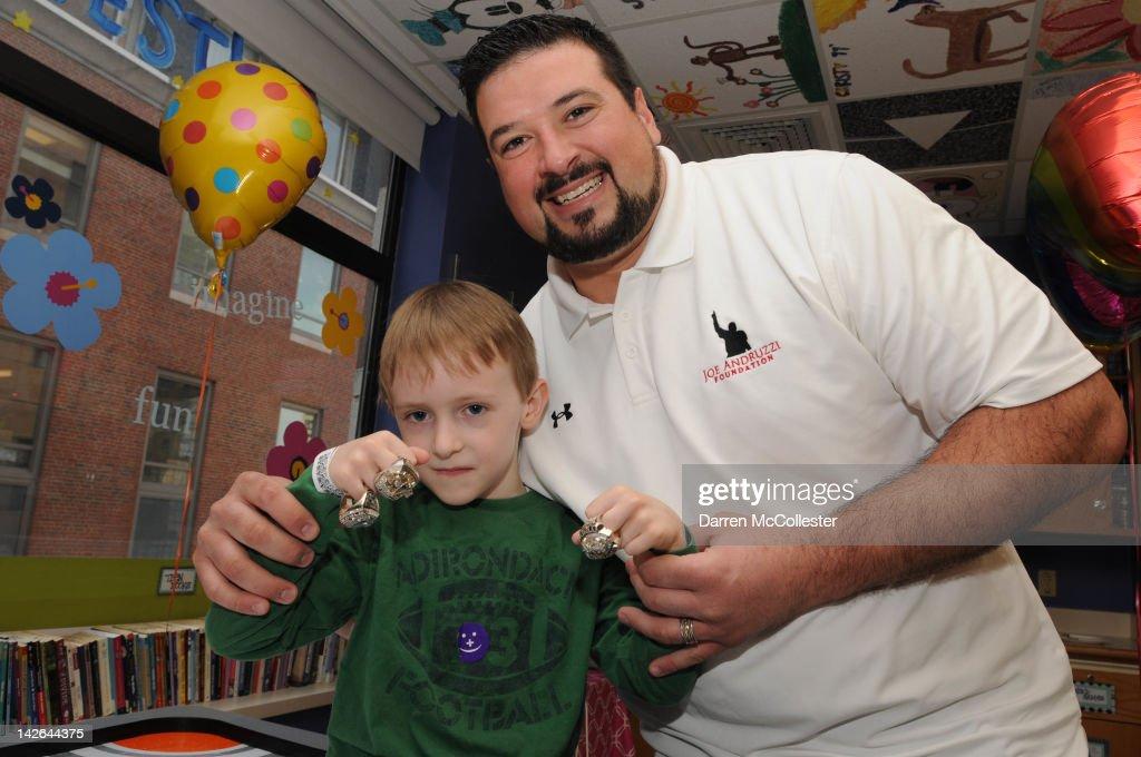Children's Hospital Boston Greets Spring With Joe Andruzzi
