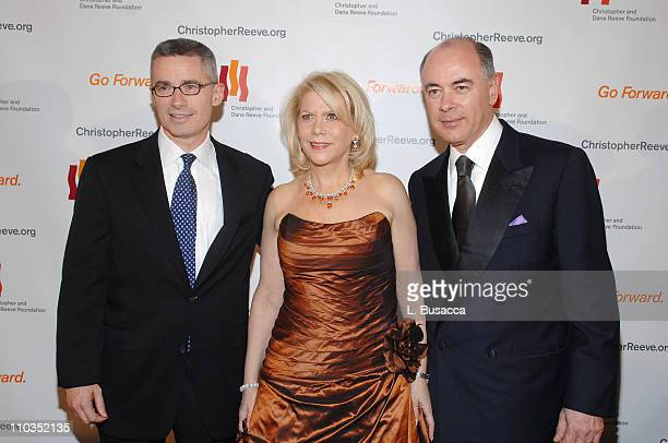 """Former New Jersey Gov. Jim McGreevey, Francine LeFrak and Rick Friedberg attend """"A Magical Evening"""" hosted by The Christopher and Dana Reeve..."""