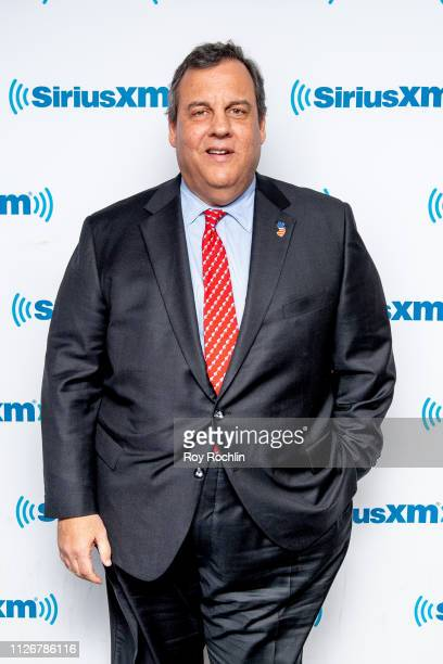 Former New Jersey Governor and presidential candidate Chris Christie visits SiriusXM Studios on February 01, 2019 in New York City.