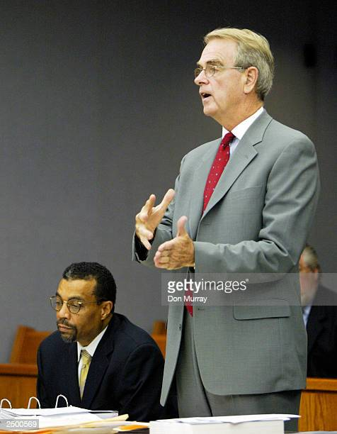 Former New Jersey Nets basketball player Jayson Williams' attorney Joseph Hayden argues a motion to view personnel records for the New Jersey State...