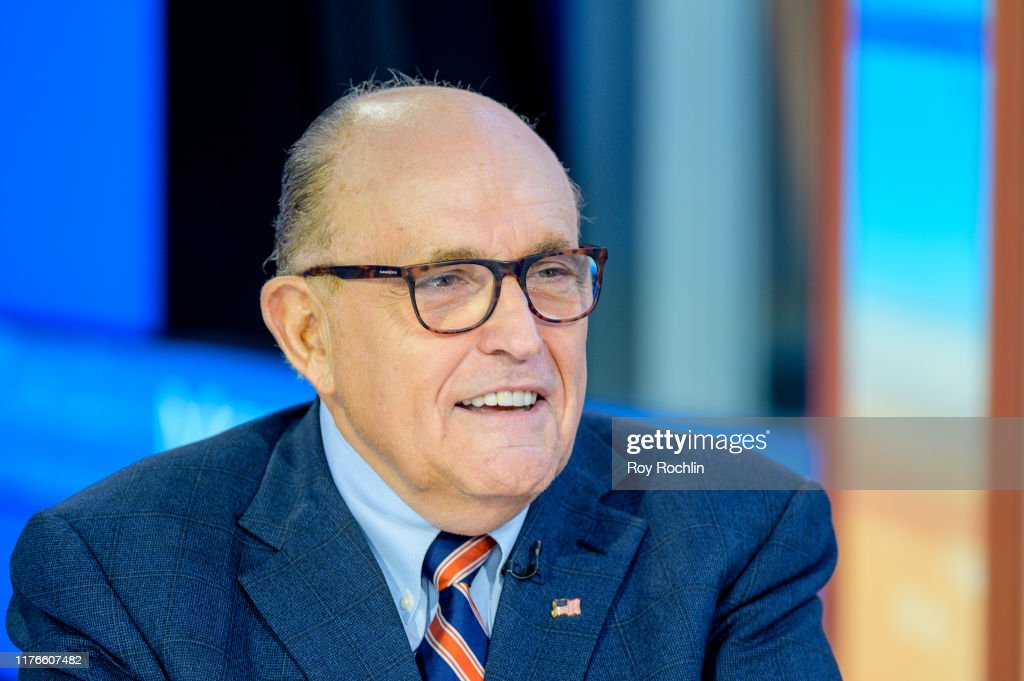"Rudy Giuliani Visits ""Mornings With Maria"" : News Photo"