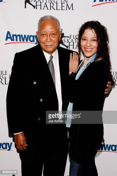 Former New York City Mayor David Dinkins and figure skater Tai Babilonia attend the 2009 Skating with the Stars at Wollman Rink in Central Park on...