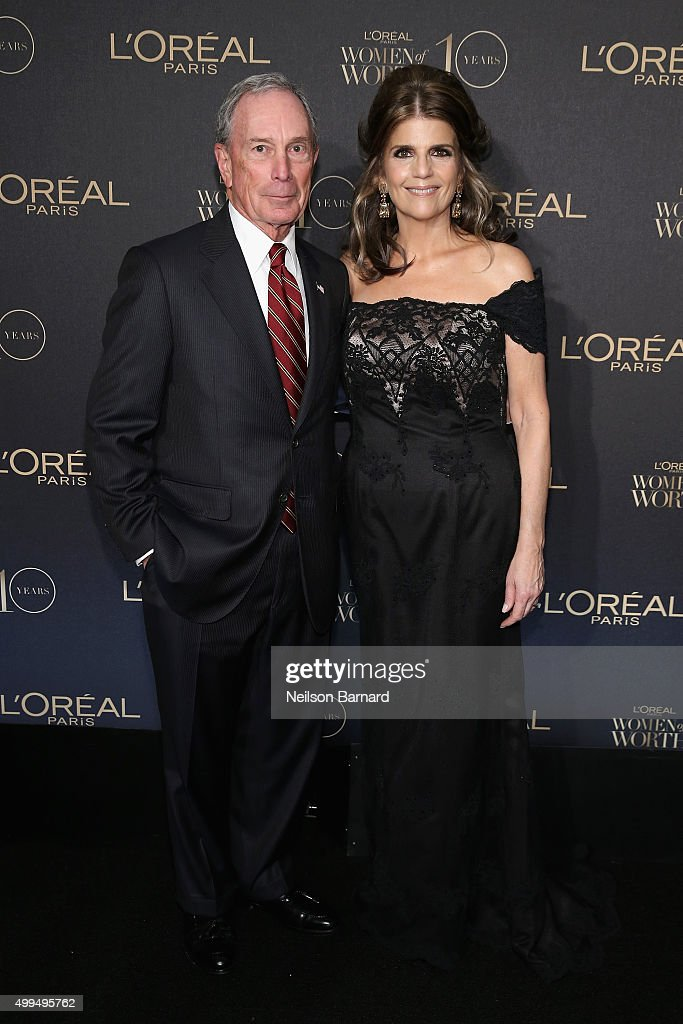 Former New York City Mayor Michael Bloomberg (L) and President of L'Oreal Paris USA Karen T. Fondu attend the L'Oreal Paris Women of Worth 2015 Celebration - Arrivals at The Pierre Hotel on December 1, 2015 in New York City.