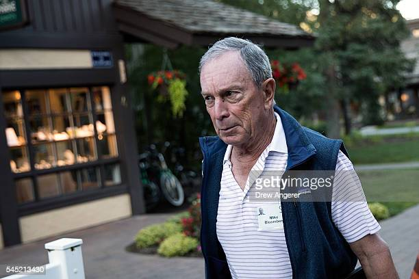 Former New York City mayor Michael Bloomberg attends the annual Allen Company Sun Valley Conference July 6 2016 in Sun Valley Idaho Every July some...