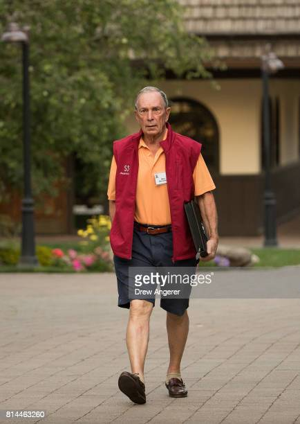 Former New York City mayor Michael Bloomberg attends the fourth day of the annual Allen Company Sun Valley Conference July 14 2017 in Sun Valley...