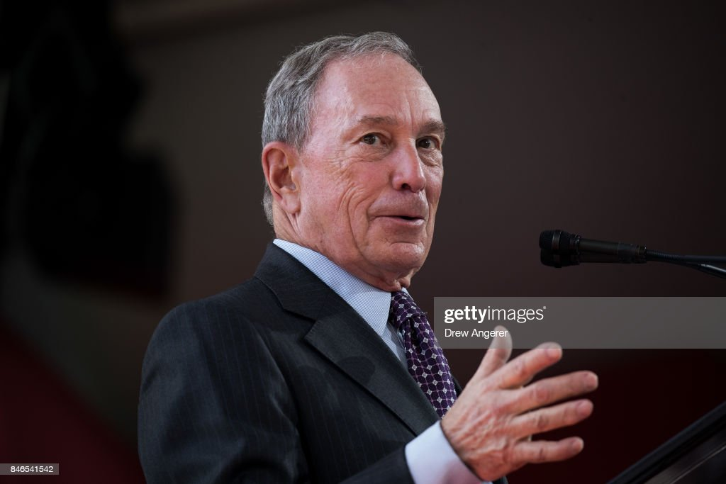 Former New York City Mayor Michael Bloomberg delivers remarks during a dedication ceremony to mark the opening of the new campus of Cornell Tech on Roosevelt Island, September 13, 2017 in New York City. Seven years ago, the former mayor created a competition that invited top universities to open an applied-science campus in New York City. Cornell Tech, an engineering and science campus of Cornell University, officially opened its doors today.