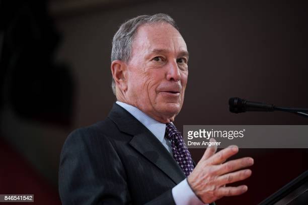Former New York City Mayor Michael Bloomberg delivers remarks during a dedication ceremony to mark the opening of the new campus of Cornell Tech on...
