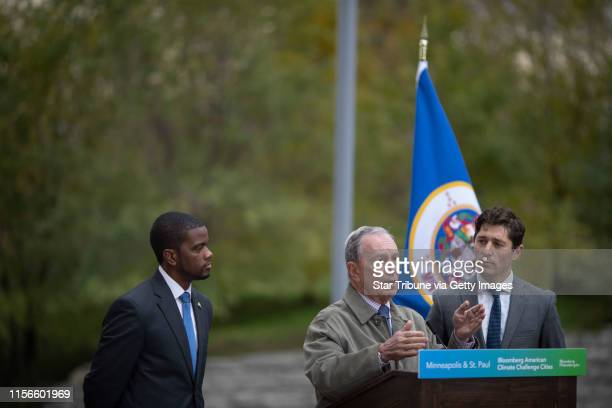 Former New York City Mayor Michael Bloomberg joined mayors Jacob Frey and Melvin Carter where it was announced that the Twin Cities were making...