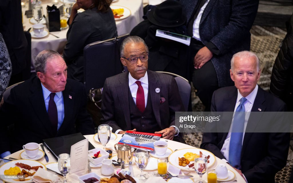 Joe Biden And Mike Bloomberg Join Al Sharpton For MLK Day Breakfast Event : News Photo