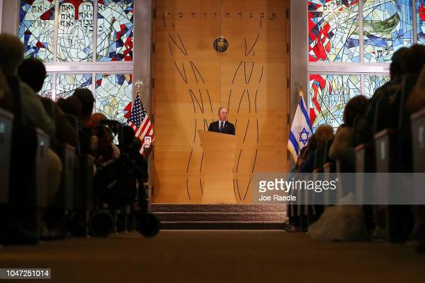 Former New York City Mayor Michael Bloomberg speaks at a political event attended by Florida Democratic gubernatorial candidate Andrew Gillum at the...