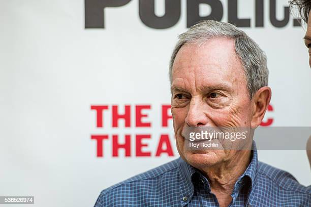 Former New York City Mayor Michael Bloomberg the 2016 Public Theater Gala at Delacorte Theater on June 6 2016 in New York City