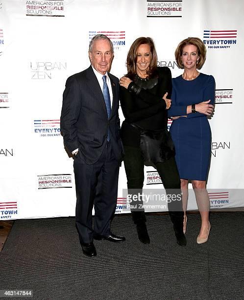 Former New York City Mayor Michael R Bloomberg designer Donna Karan and Shannon Watts founder of Moms Demand Action for Gun Sense in America attend...