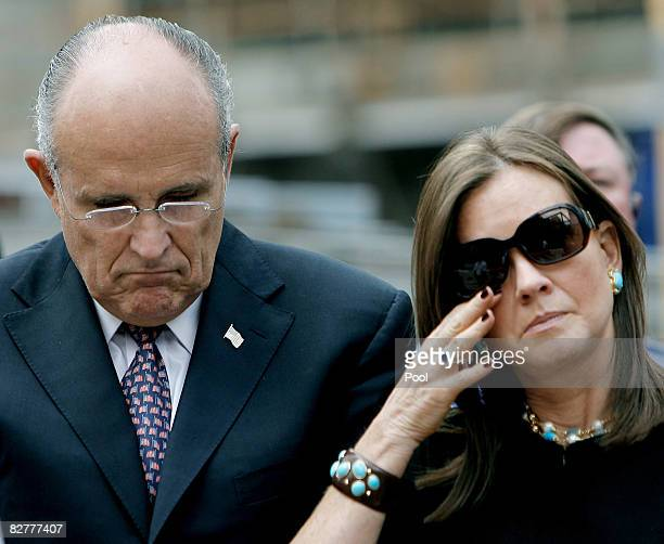 Former New York City Mayor Rudolph W Giuliani and wife Judith Giuliani visit Ground Zero during the 7th annual 9/11 memorial ceremony September 11...