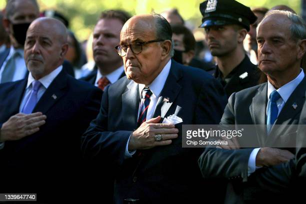 Former New York City Mayor Rudy Giuliani attends the annual 9/11 Commemoration Ceremony at the National 9/11 Memorial and Museum on September 11,...