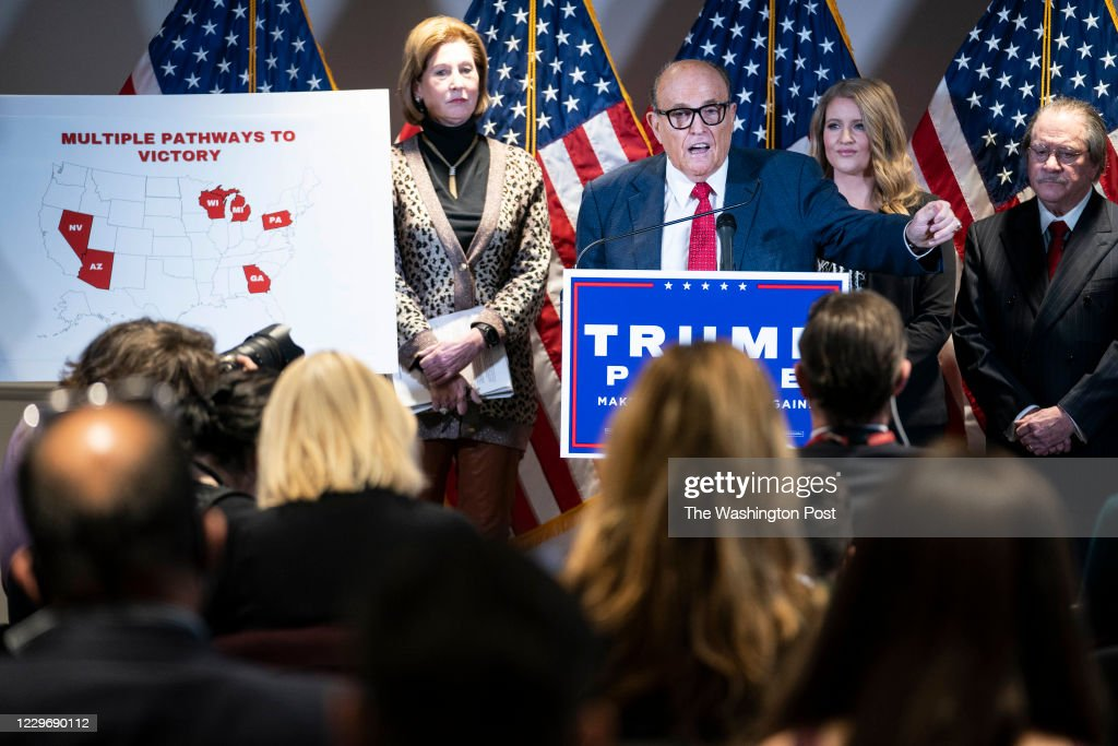 Rudy Giuliani Holds News Conference in Washington About Voter Fraud : News Photo