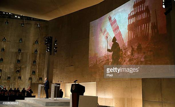 Former New York City Mayor Rudy Giuliani speaks during the opening ceremony for the National September 11 Memorial Museum at ground zero May 15 2014...