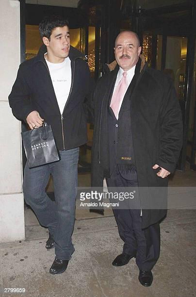 Former New York City Police Commissioner Bernard Kerik and his son exit Barneys November 26, 2003 in New York City.
