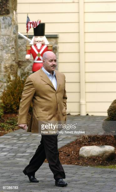 Former New York City Police Commissioner Bernard Kerik walks out of his three-story home in Franklin Lakes, N.J., to speak to news media. Last night,...