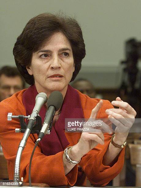 Former New York Congresswoman Elizabeth Holtzman testifies before the US House of Representatives Judiciary Committee impeachment inquiry 08 December...