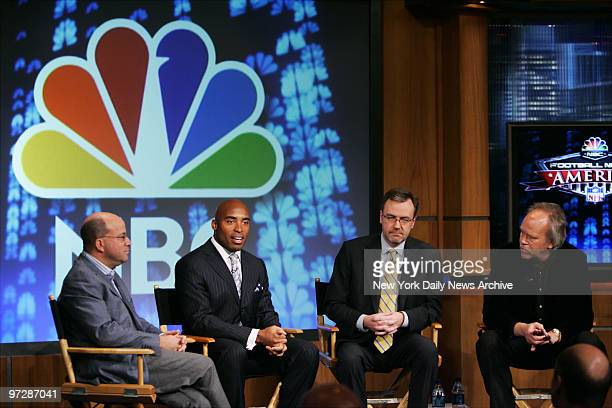 Former New York Giants' running back Tiki Barber is joined by NBC Universal President and CEO Jeff Zucker President of NBC News Steve Capus and...