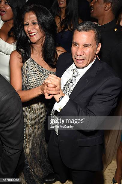 Former New York Governor David Paterson attends Angel Ball 2014 hosted by Gabrielle's Angel Foundation at Cipriani Wall Street on October 20 2014 in...
