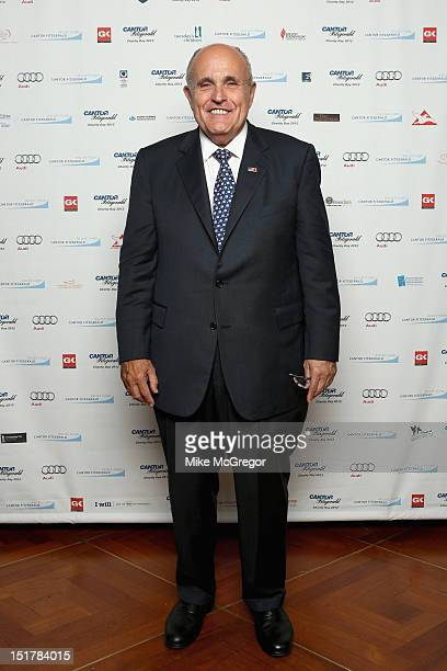 Former New York mayor Rudy Giuliani attends Cantor Fitzgerald BGC Partners host annual charity day on 9/11 to benefit over 100 charities worldwide at...
