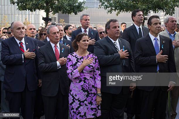 Former New York Mayor Rudy Giuliani New York Mayor Michael Bloomberg New Jersey Governor Chris Christie with wife Mary Pat Christie and New York...