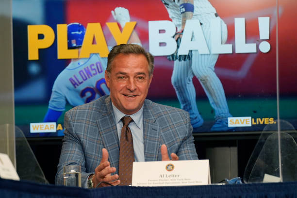 Former New York Mets and New York Yankees pitcher Al Leiter speaks during an event at the governor's office on March 18, 2021 in New York City. New...