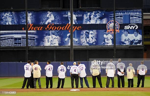 Former New York Mets members Mike Piazza, Tom Seaver, Jesse Orosco, Jjohn Franco, Lenny Dykstra, Keith Hernandez, Jerry Koosman, Dwight Gooden,...