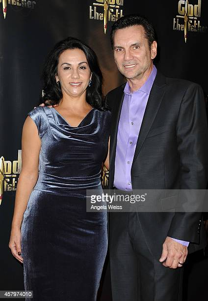 Former New York mobster/captain of the Colombo crime family Michael Franzese and his wife Camille Franzese arrive at the premiere of 'God The Father'...