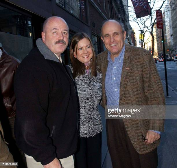 Former New York police commissioner and nominee for U.S. Secretary of the Department of Homeland Security Bernard Kerik poses with former New York...