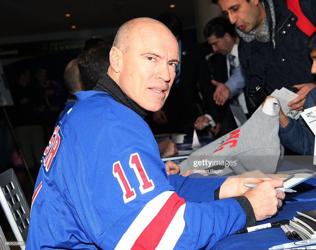 Former New York Ranger player Mark Messier attends The New York Rangers 19th Annual 'Skate With The Greats' Event Benefiting The Ronald McDonald House New York at The Rink at Rockefeller Center on February 1, 2013 in New York City.