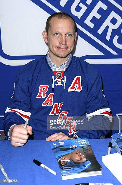Former New York Rangers hockey player Adam Graves attends the 16th annual Skate with the Greats at Rockefeller Center on January 28 2010 in New York...