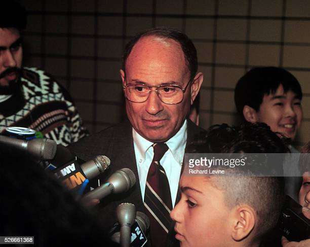 Former New York Schools Chancellor Ramon C. Cortines Jr. At a news conference at P.S. 2 on school lunches on February 27, 1995 during his tenure as...