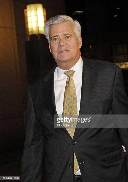 Former New York Senate Majority Leader Dean Skelos left exits federal court in New York US on Wednesday Dec 9 2015 Skelos pleaded not guilty to...