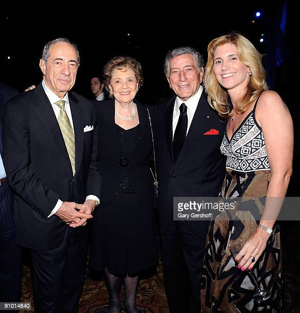 Former New York State governor Mario Cuomo and wife Matilda Cuomo and cofounders of Exploring the Arts organization singer Tony Bennett and Susan...