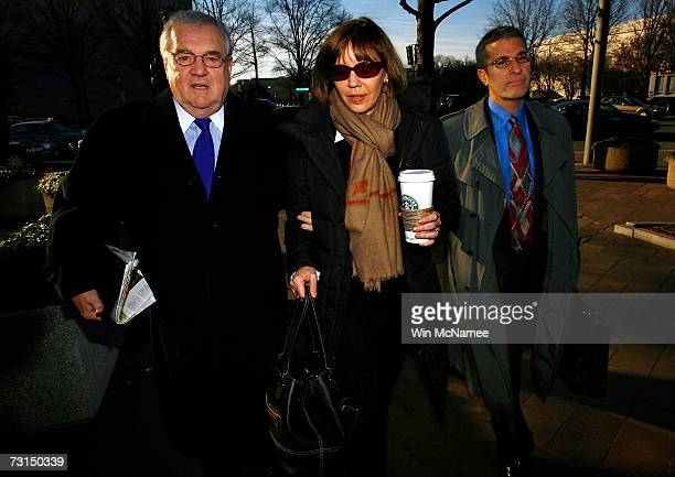 Former New York Times reporter Judith Miller and her lawyer Bob Bennett arrive at US District Court January 30 2007 in Washington DC Miller is...