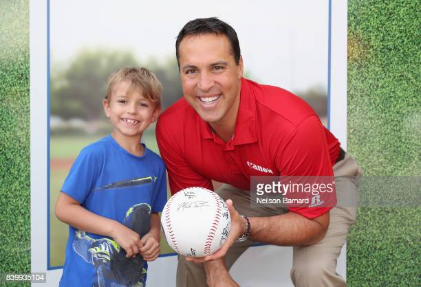 Former New York Yankee Mark Teixeira partners with Canon for the picture perfect day at the Little League World Series on August 27 2017 in South...
